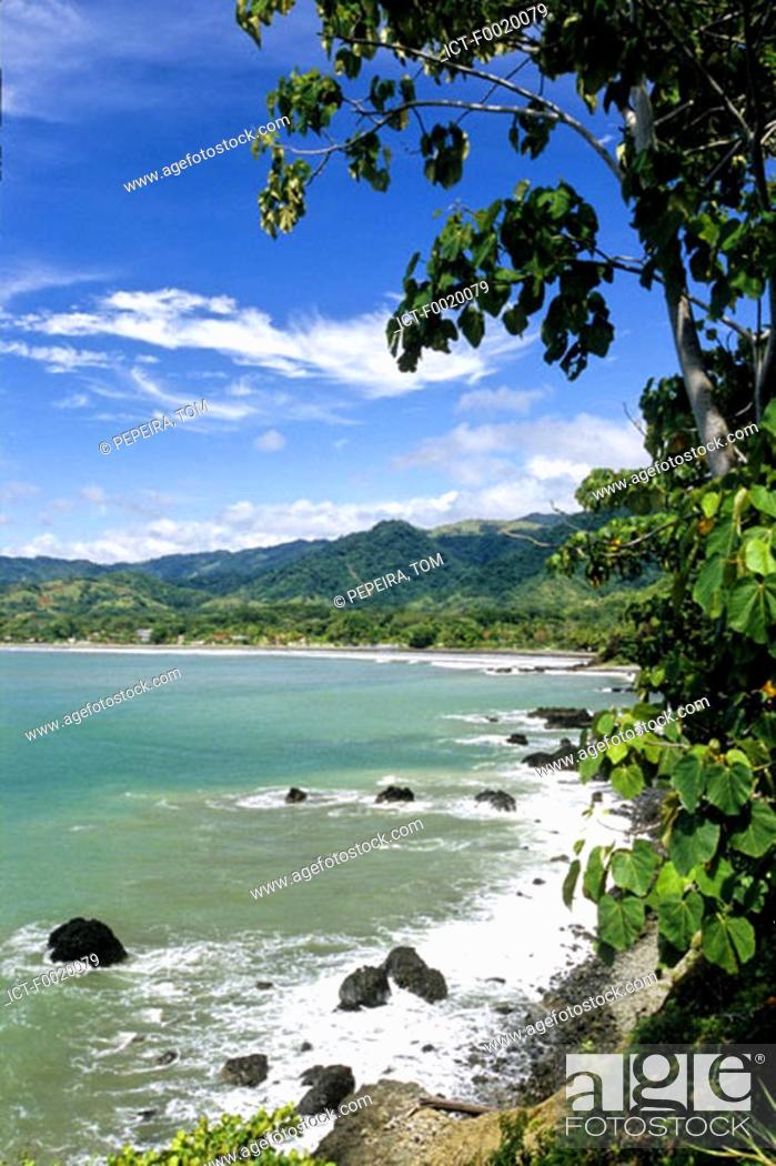 Stock Photo: Costa Rica, Pacific coast, beach.
