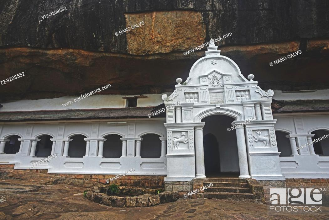 Stock Photo: Dambulla cave temple or Golden Temple of Dambulla, World Heritage Site in Sri Lanka.