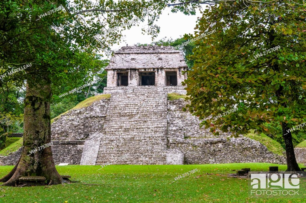 Stock Photo: Temple of the Count, Palenque Mayan Archaeological Site, Palenque, State of Chiapas, Mexico, North America.