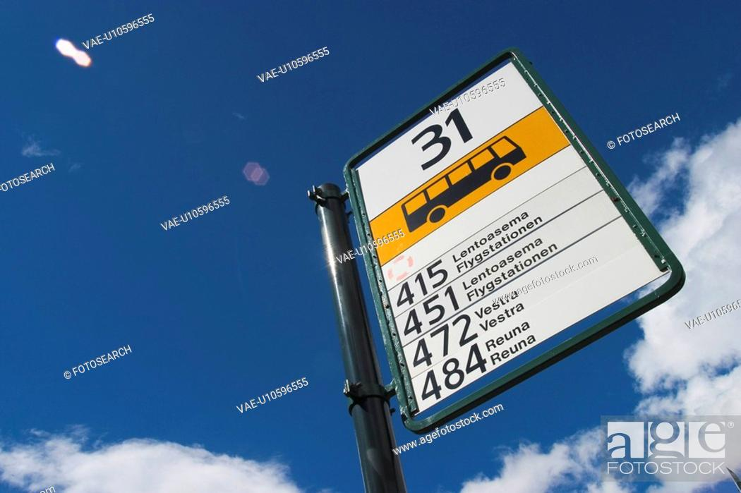 Stock Photo: Blue Sky, Bus Stop, Close-Up, Clouds, Day.