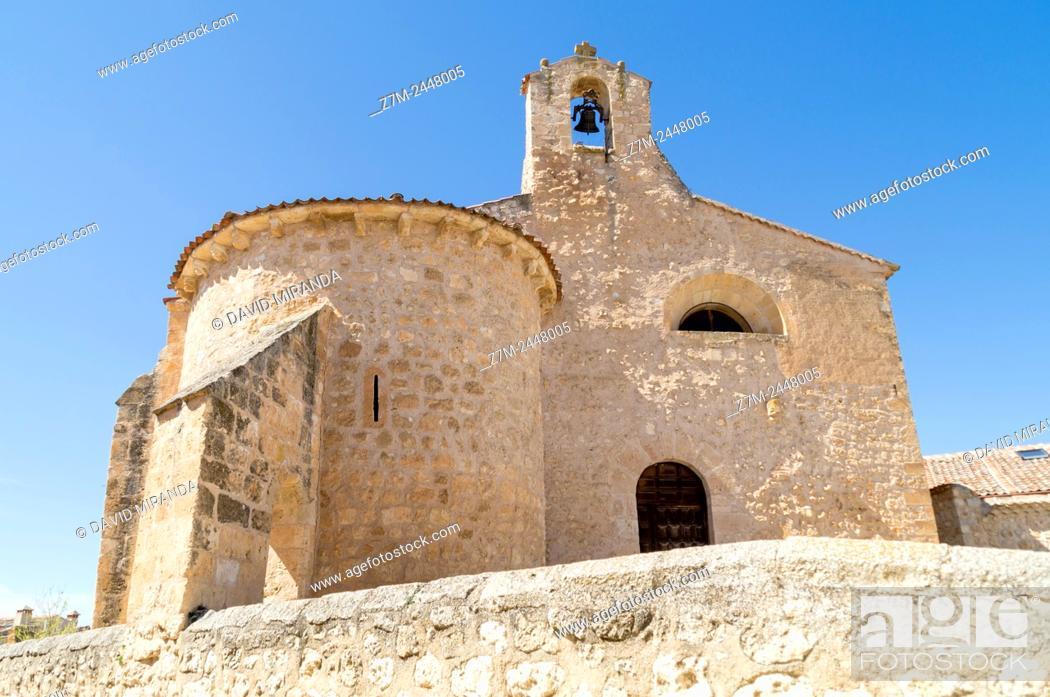 Stock Photo: Iglesia de San Miguel. Maderuelo. Conjunto histórico artístico. Segovia province. Castile-Leon. Spain.