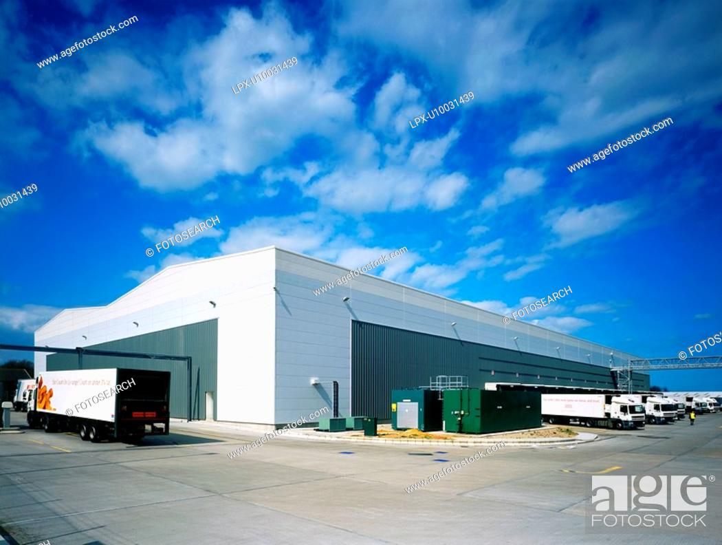 Stock Photo: Exterior of a warehouse.