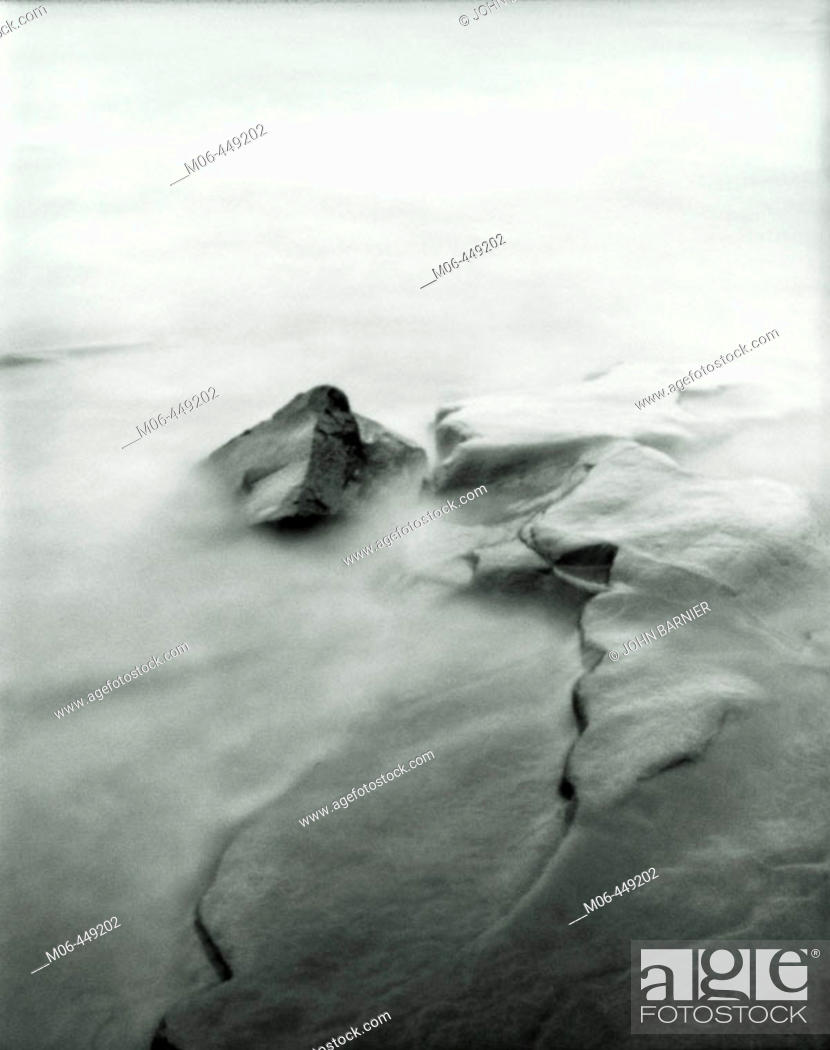 Stock Photo: Pinhole image of water on the shore of Lake Superior in Northern Minnesota.