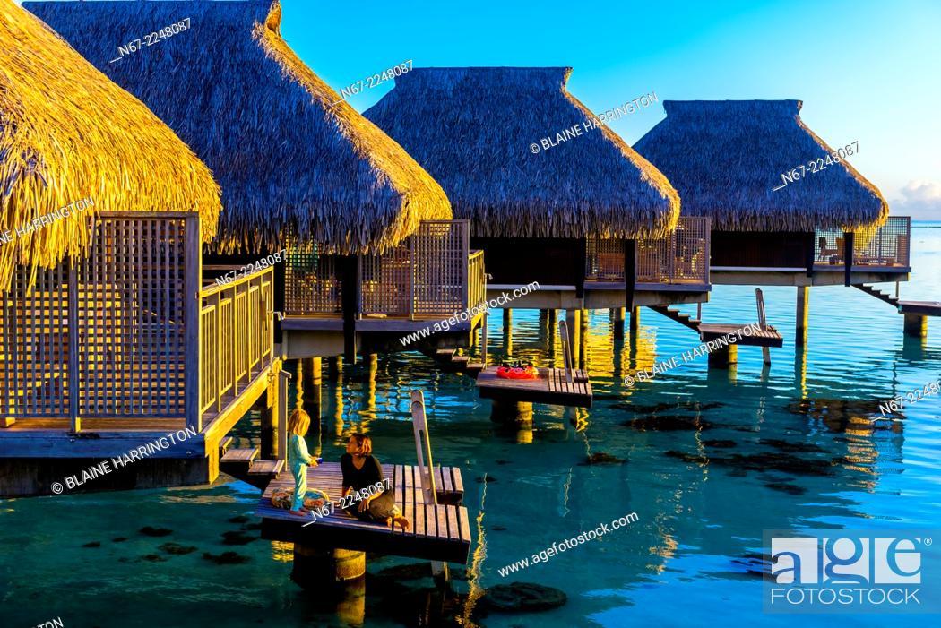 Overwater Bungalows Hilton Moorea Lagoon Resort Island Of