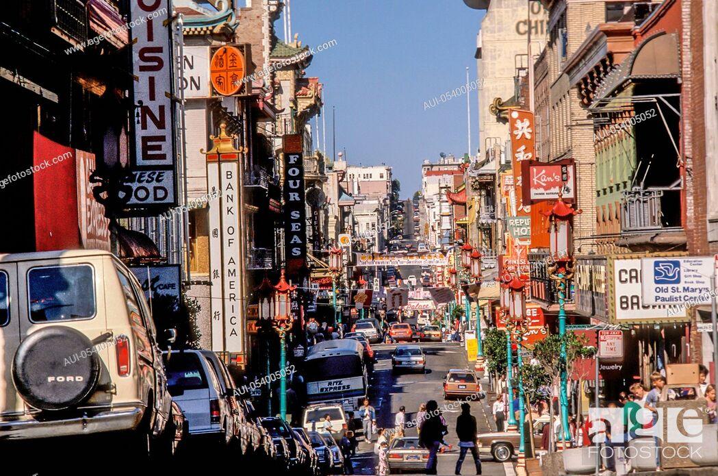 Stock Photo: usa, california, san francisco, chinatown.