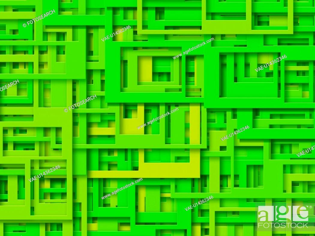 Stock Photo: Green Rectangles.