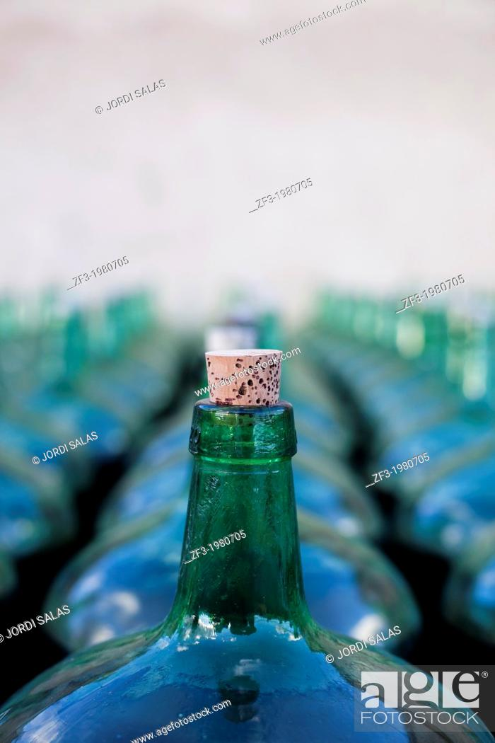 Stock Photo: Bottles of old wine.