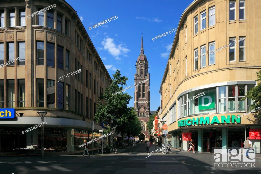 Stock Photo: Germany, Krefeld, Rhine, Lower Rhine, Rhineland, North Rhine-Westphalia, NRW, city church Saint Dionysius, catholic church, classicism, Rheinstrasse.