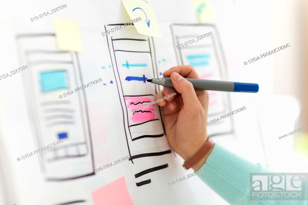 Stock Photo: ui designer working on user interface at office.
