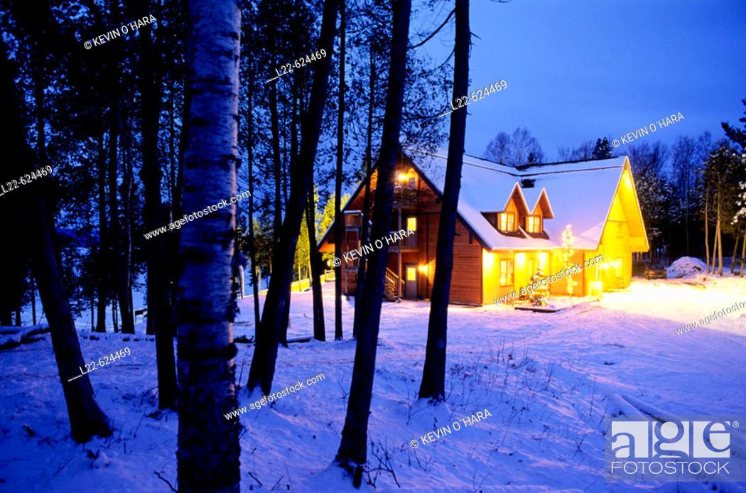 Stock Photo: Domaine du Lac Toro. Saint-Michel-des-Saints area. Quebec Province. Canada.