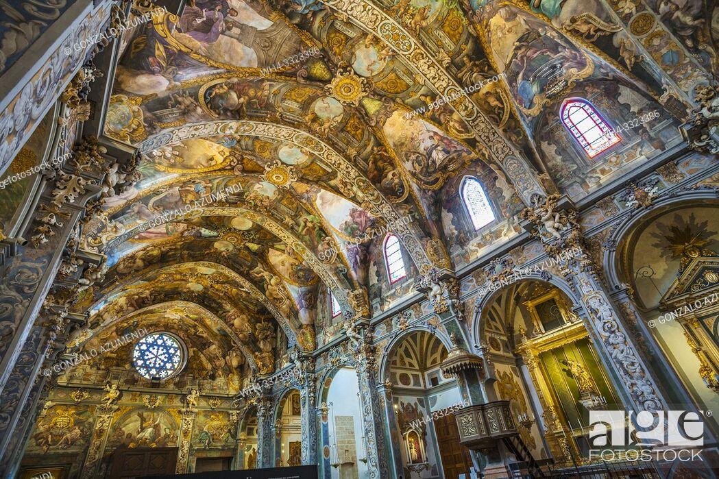 Stock Photo: San Nicolas church. Sistine Chapel of Valencia. Baroque fresco. Valencia. Comunidad Valencia. Spain. Europe.