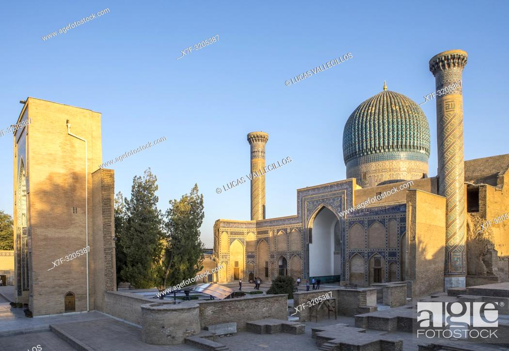 Stock Photo: Gur-e Amir mausoleum, Samarkand, Uzbekistan.