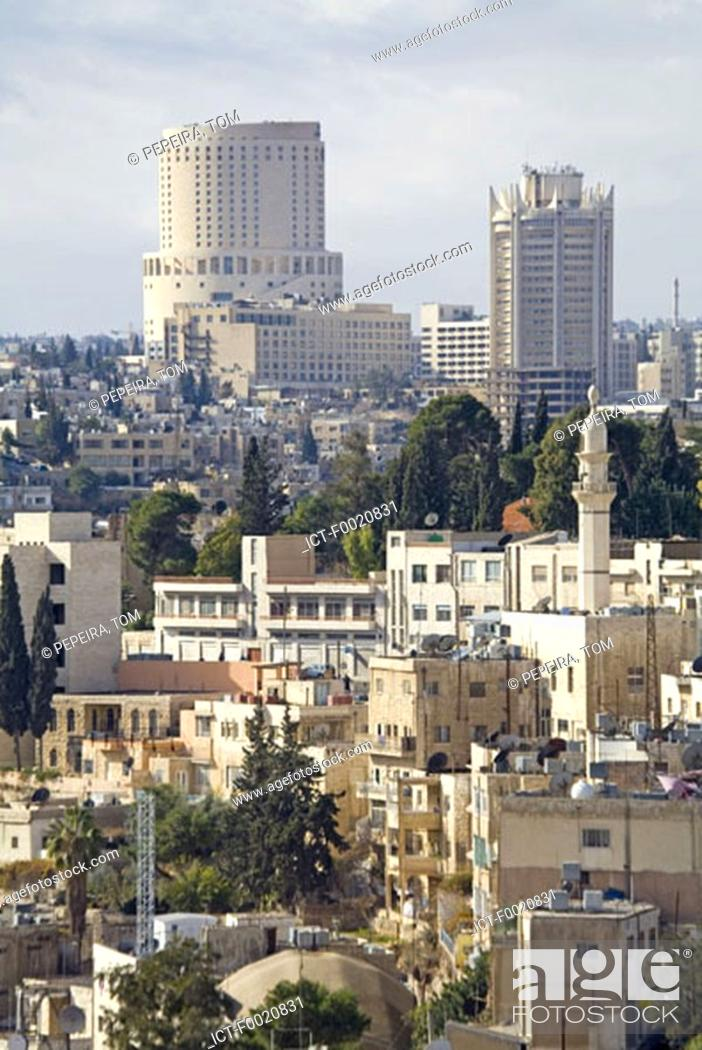 Stock Photo: Jordan, Amman, overview.
