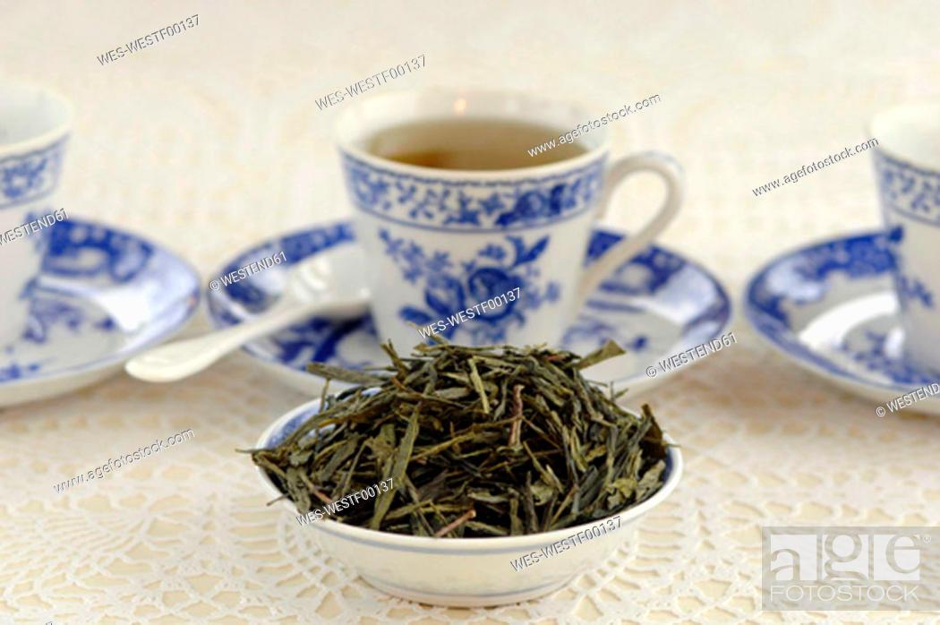 Stock Photo: China green tea.