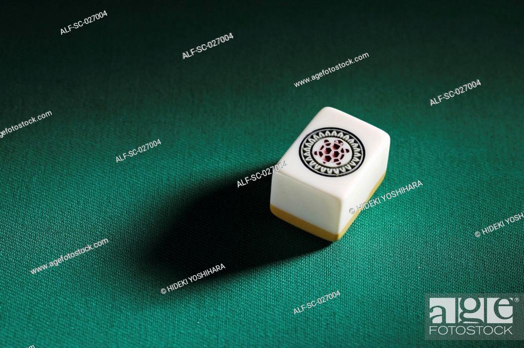 Stock Photo: Mahjong Tile.