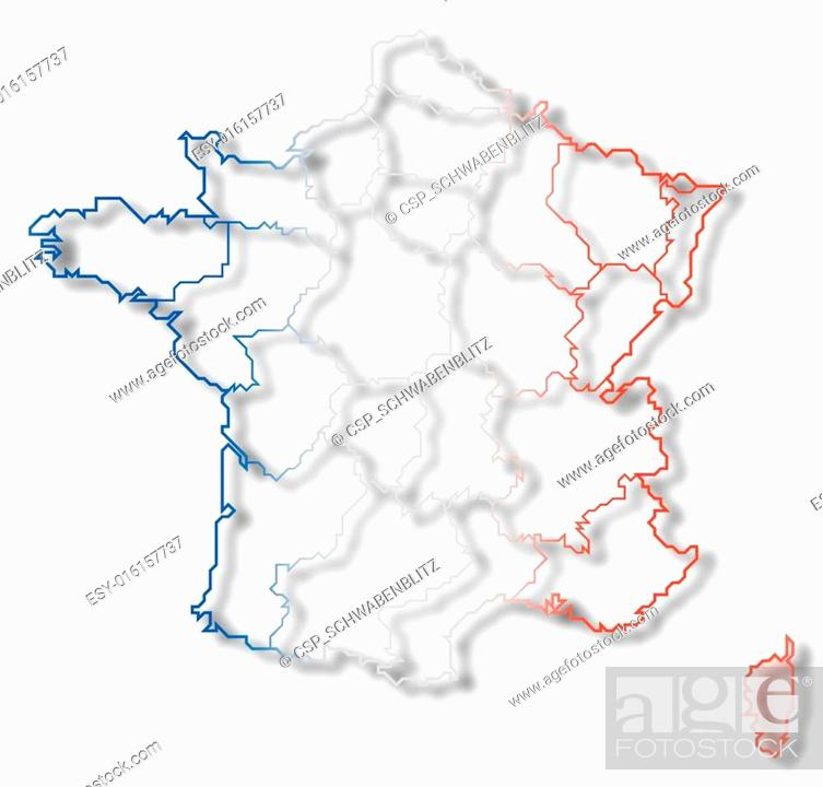 Map Of France And Corsica.Map Of France Corsica Highlighted Stock Photo Picture And Low