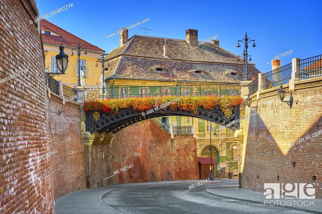 Stock Photo: Iron Bridge, Liars Bridge, Sibiu, Transylvania, Romania.