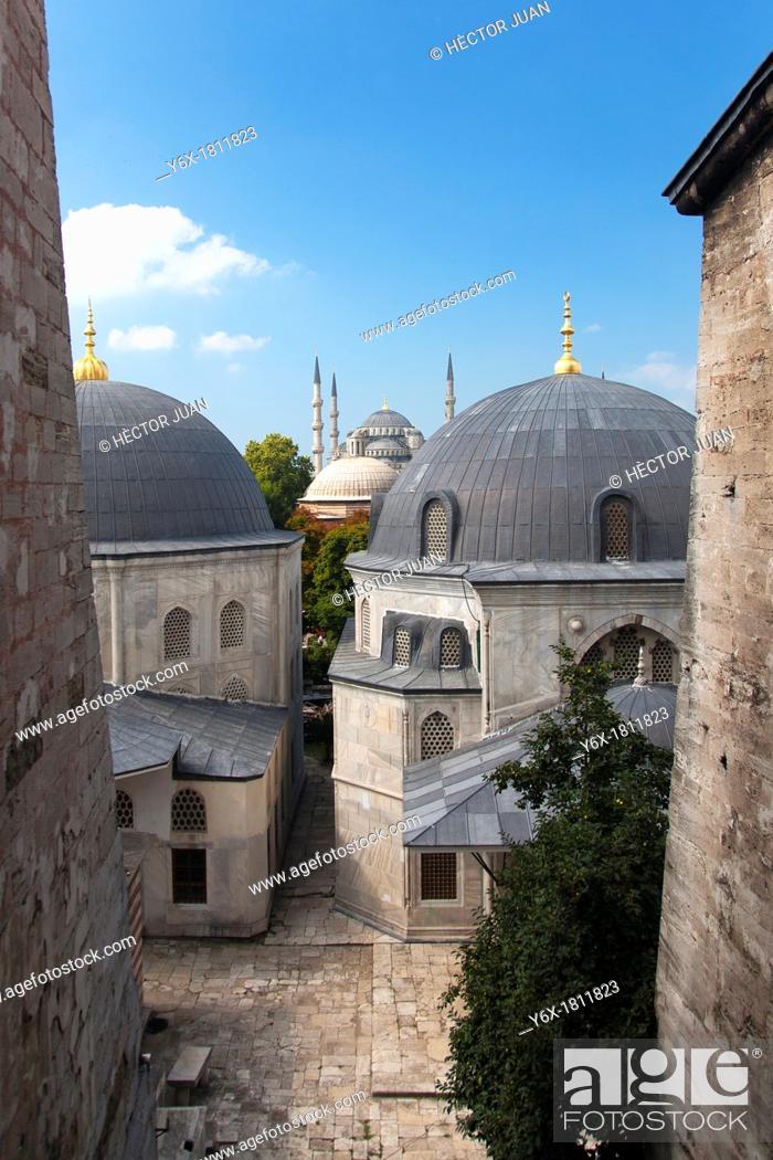 Stock Photo: Süleymaniye Mosque from Hagia Sophia.
