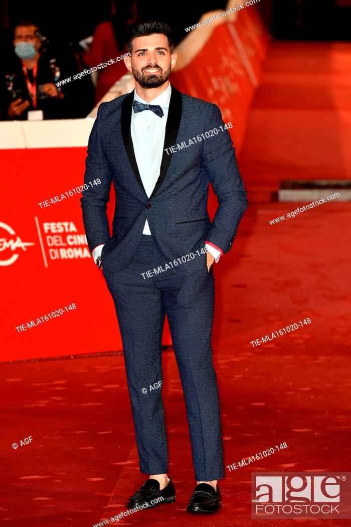 "Stock Photo: Leonardo Decarli attends the red carpet of the movie """"Supernova"""" during the 15th Rome Film Festival on October 16, 2020 in Rome, Italy."