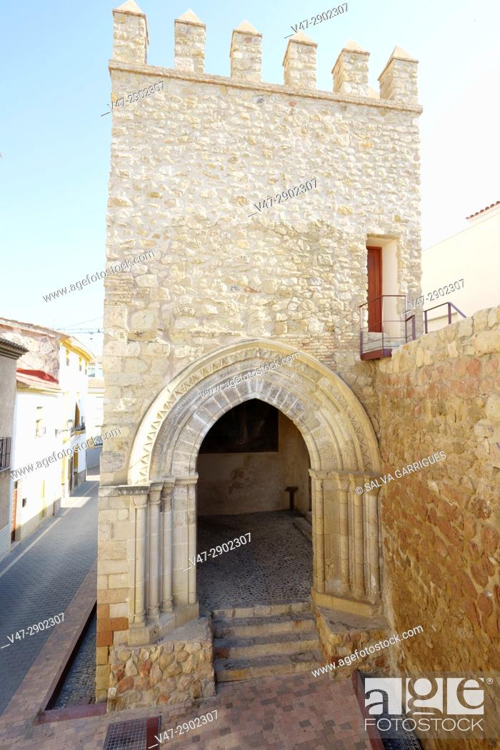 Stock Photo: Porch of San Antonio and the walls, Lorca, Murcia, Spain.