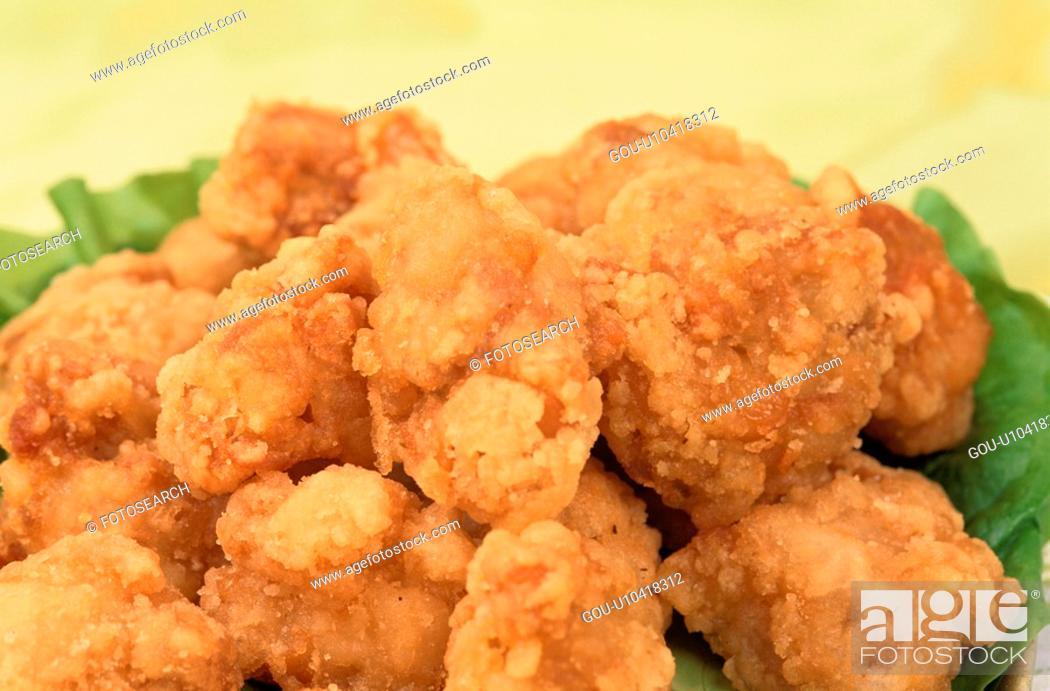 Stock Photo: Deep-Fried Fowl Nuggets.
