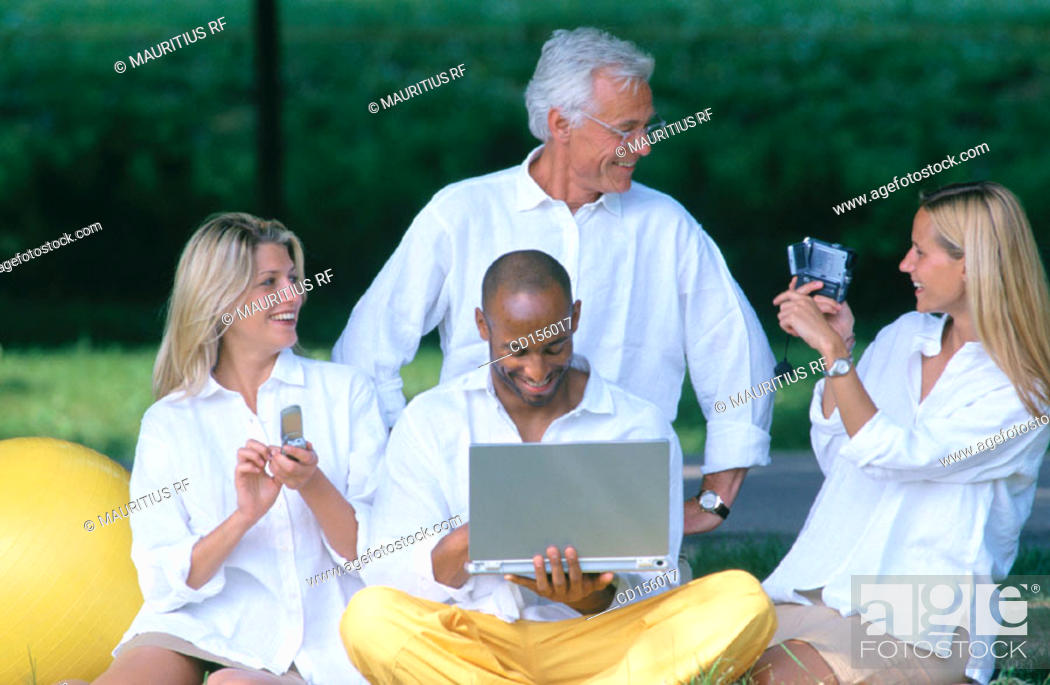 Stock Photo: Team work, Multimedia, Together.
