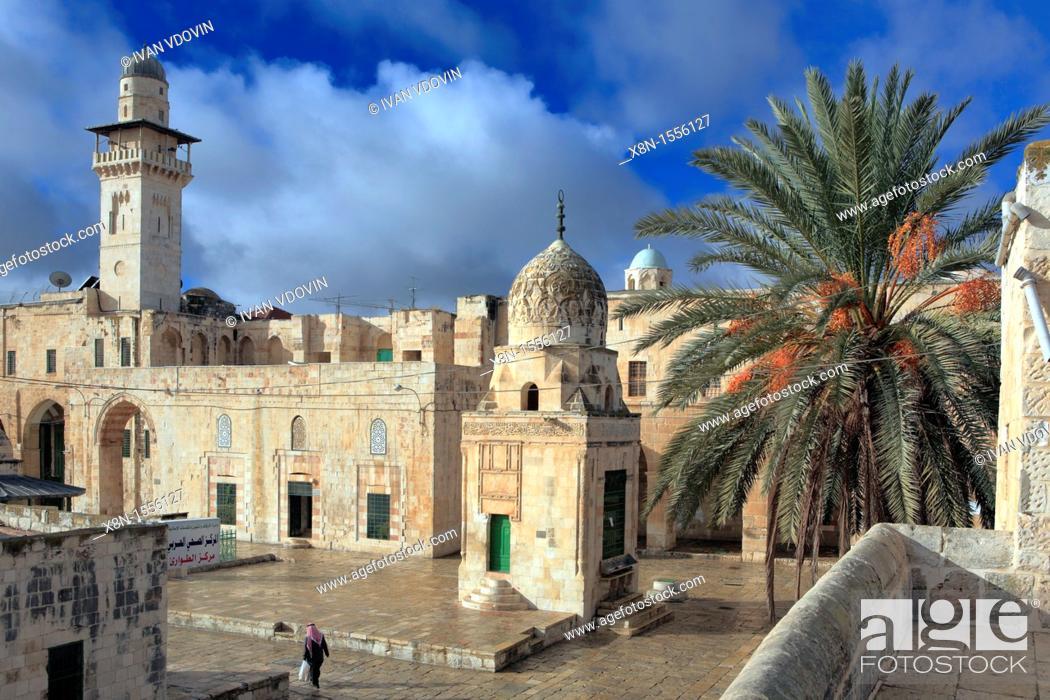 Stock Photo: al Aqsa mosque 11th century, Jerusalem, Israel.