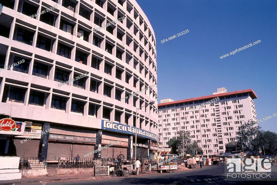 Modern building of Apna Bazar, Ahmedabad, Gujarat, India