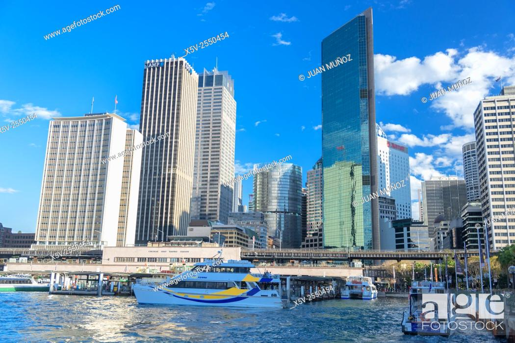 Stock Photo: Buildings and boats on Sydney Harbour. Australia. Oceania.