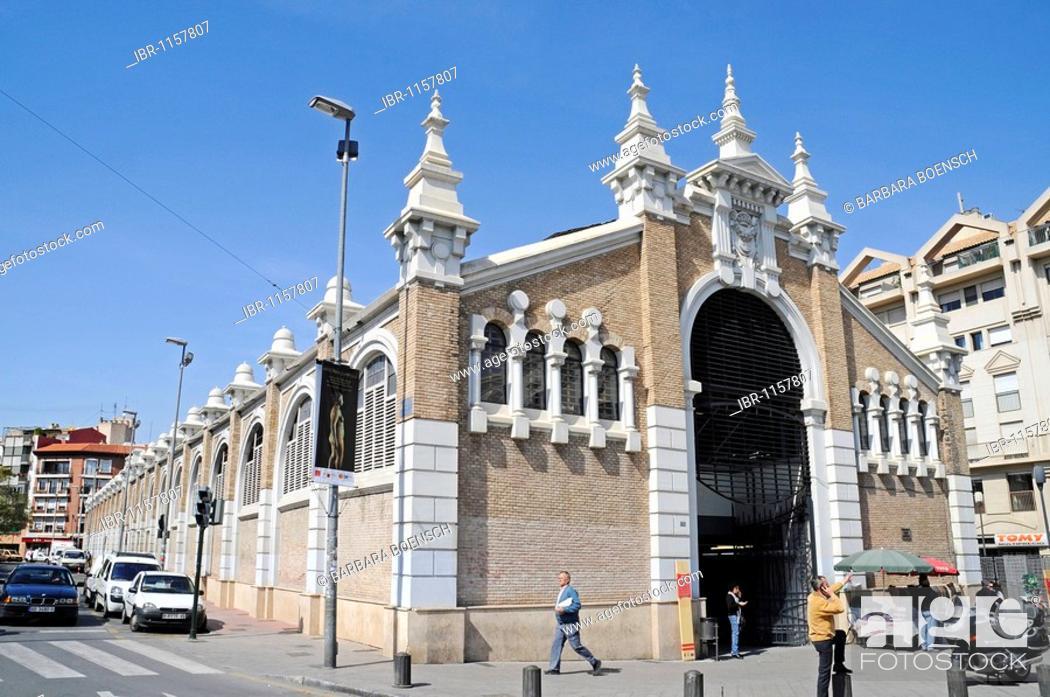 Stock Photo: Mercado Publico de Veronicas, market hall, Murcia, Spain, Europe.