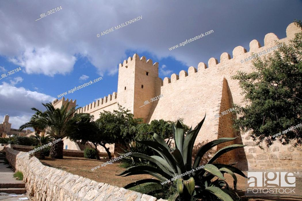 Stock Photo: The wall around the medina in Sousse.