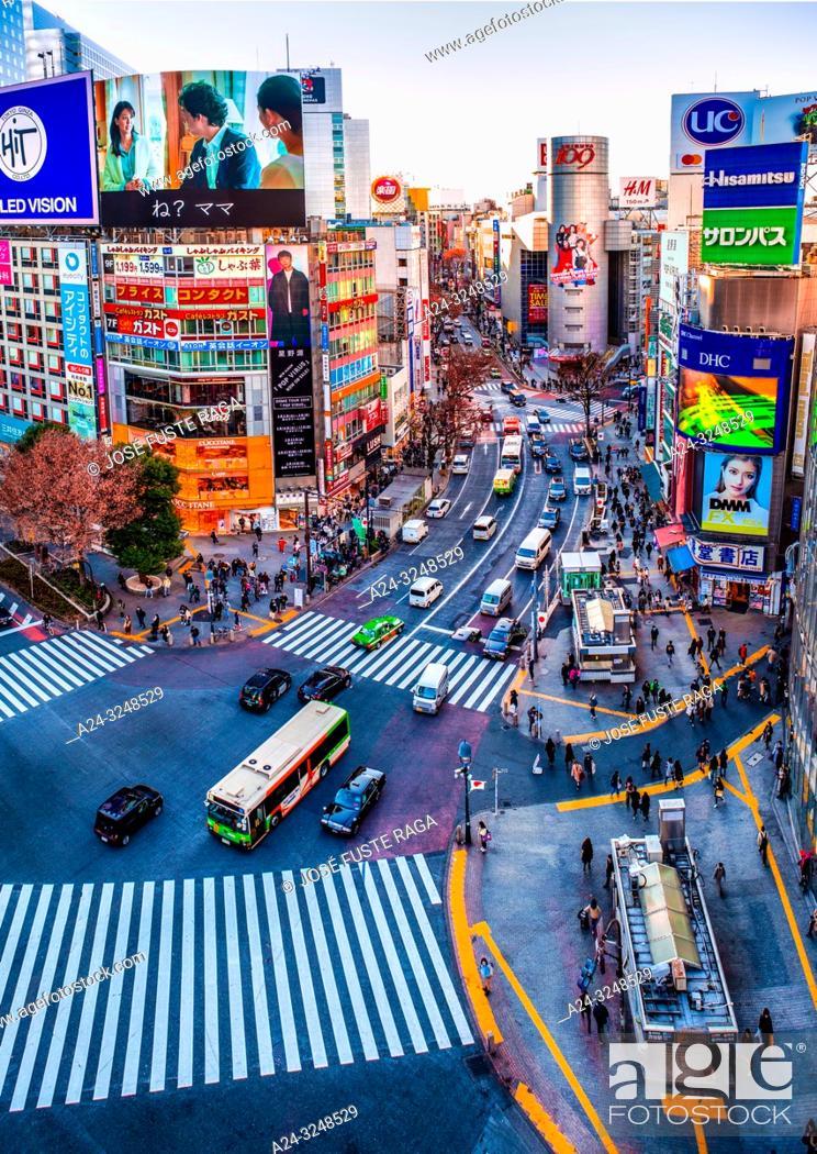 Imagen: Japan, Tokyo City, Shibuya Ward, Hachiko Crossing.