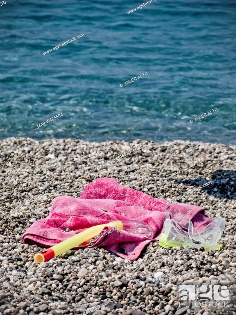 Maschera Da Sub Telo Da Mare Spiaggia Di Milazzo Sicilia Italia