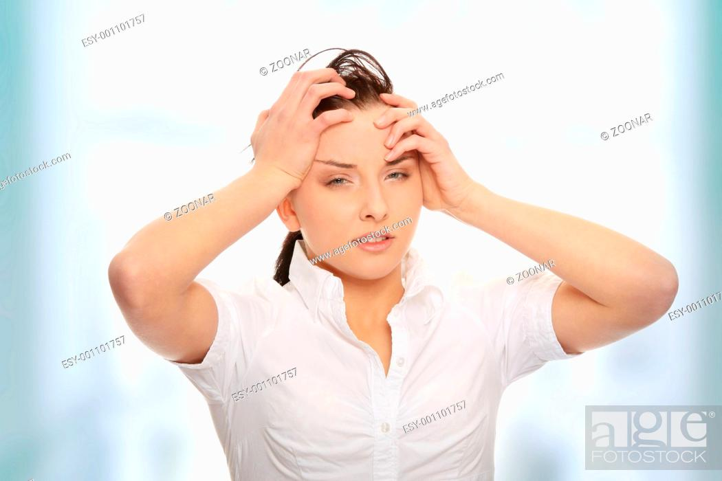 Stock Photo: Headache.