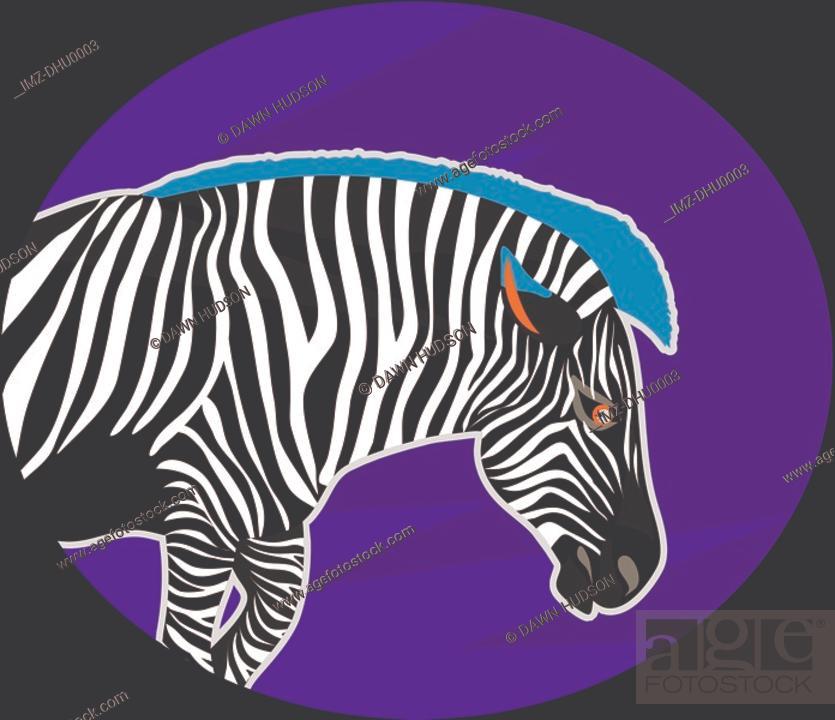 Stock Photo: Illustration of a zebra.