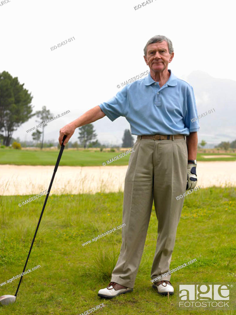 Stock Photo: Senior golfer.