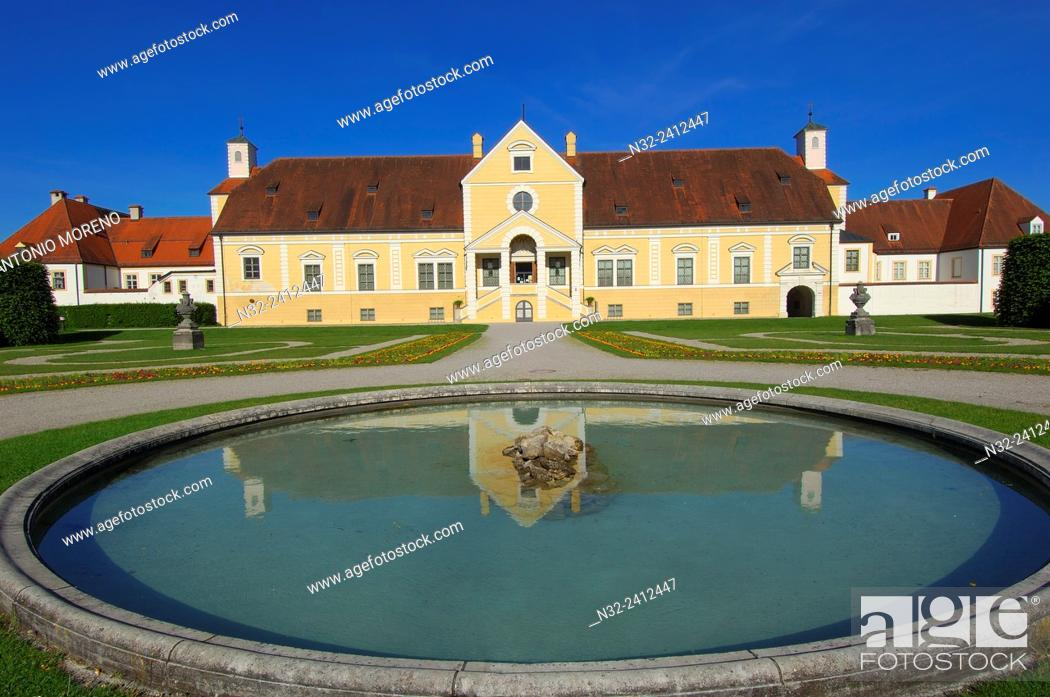 Stock Photo: Old Schleissheim Palace, Schleissheim Palace, Oberschleissheim, Near Munich, Upper Bavaria, Bavaria, Germany.