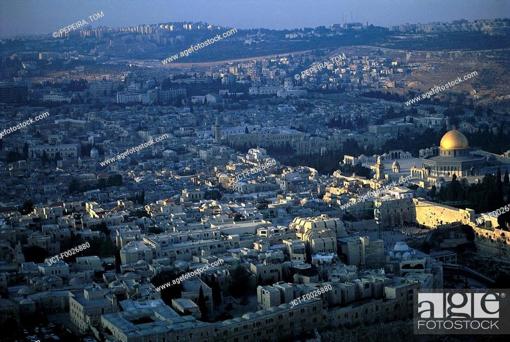 Stock Photo: Israel, aerial view of Jerusalem.