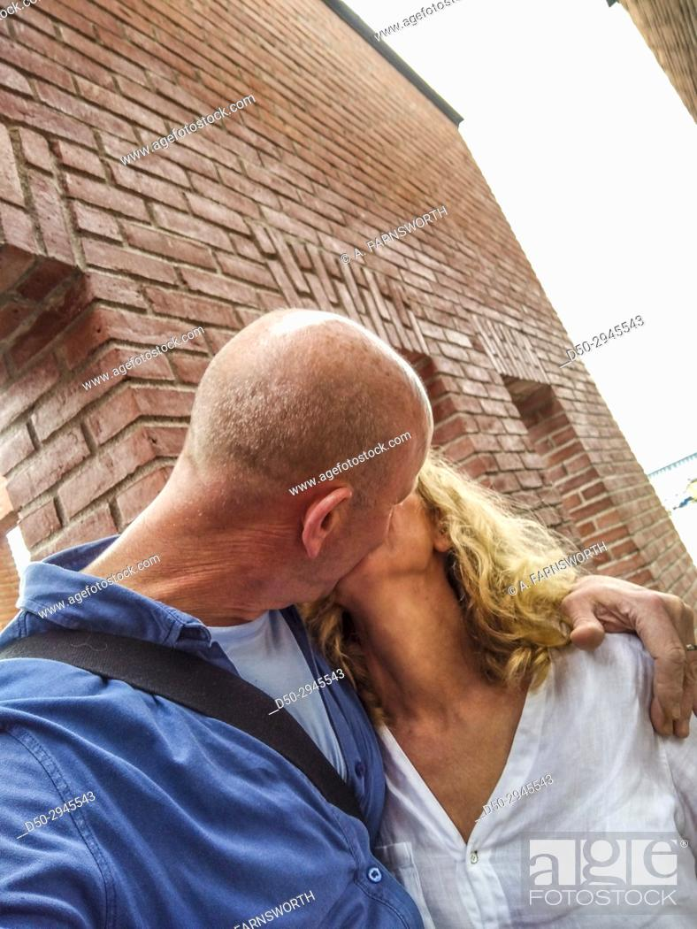 Stock Photo: STOCKHOLM, SWEDEN A loving kiss.