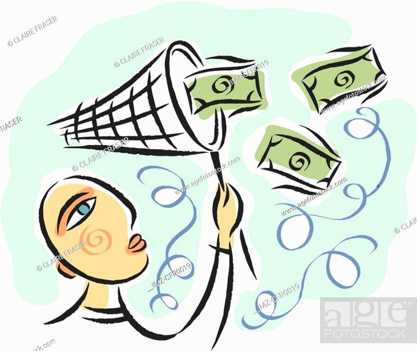 Stock Photo: money catcher.
