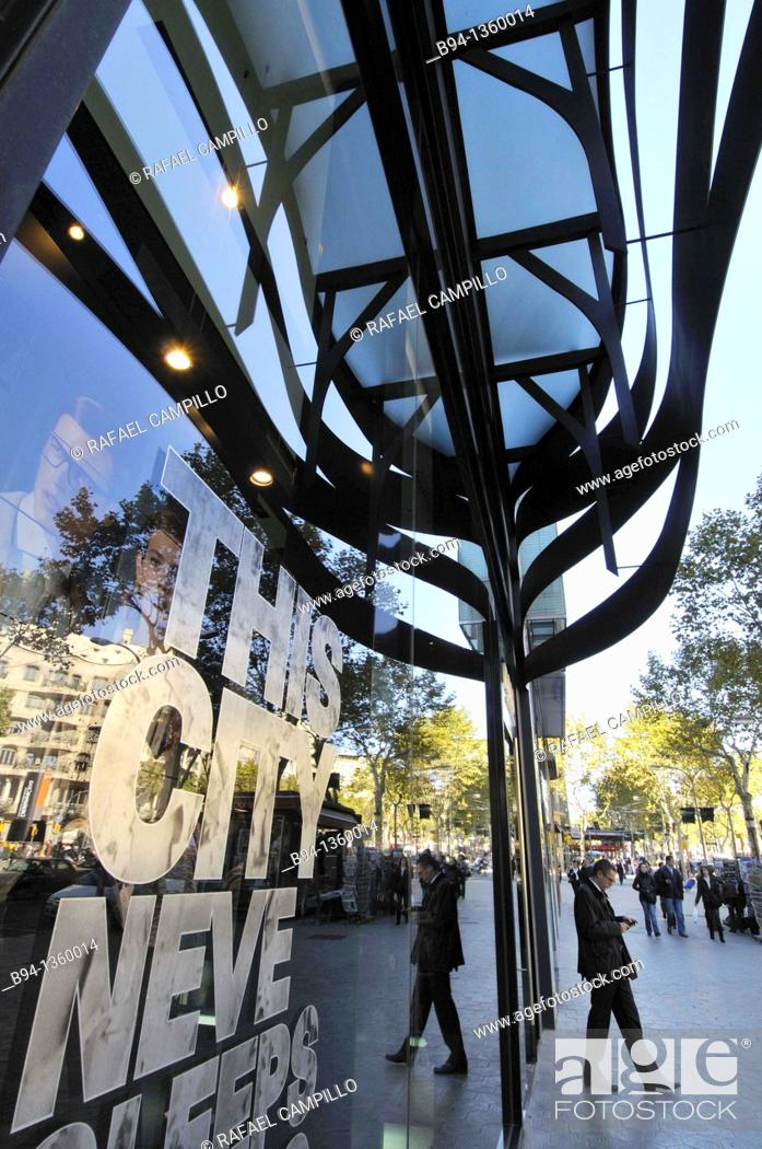 Stock Photo: Suites avenue 83 building. 83, Passeig de Gracia. Architect japanese Toyo Ito, born in Seoul (Korea) during the period of Japanese colonial exploitation in June.