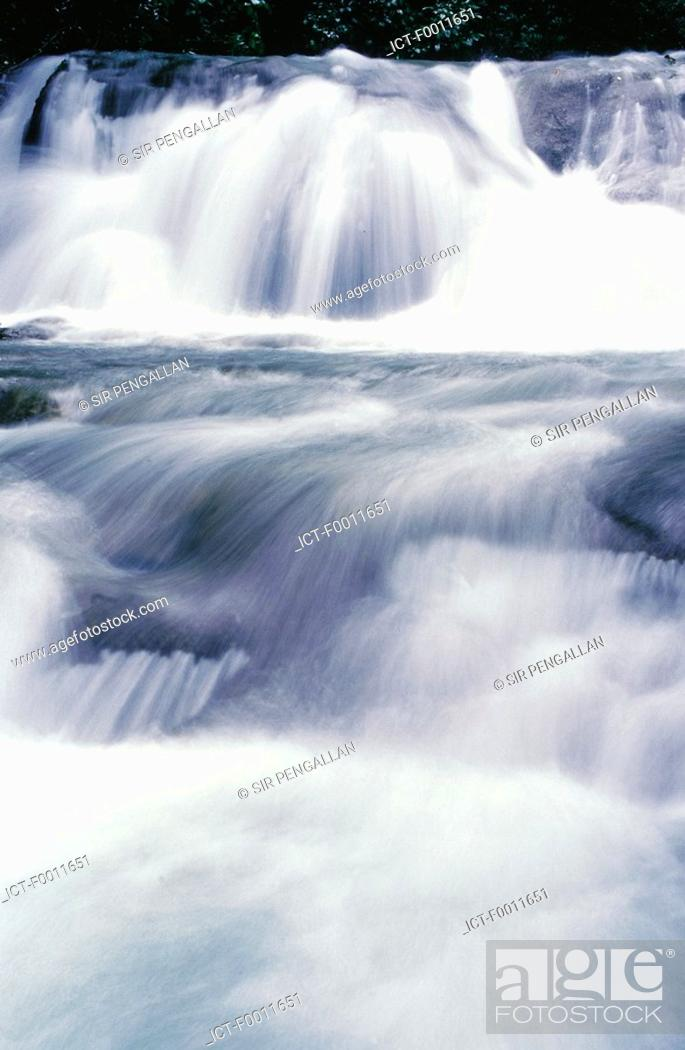 Stock Photo: Jamaica, Mayfield waterfall.