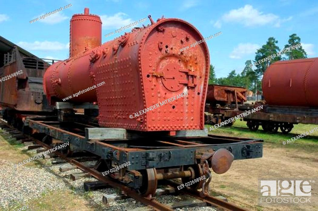 Stock Photo: Steam locomotive.