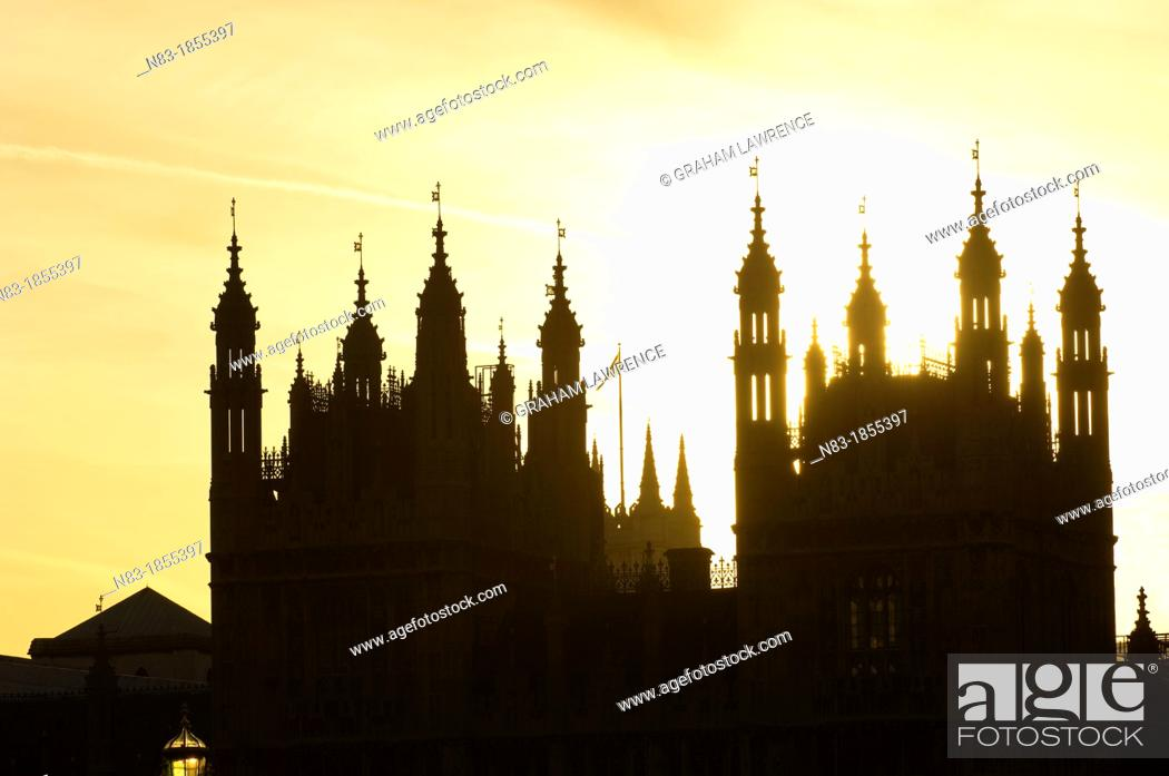 Stock Photo: Houses of Parliament, Westminster, London, UK.