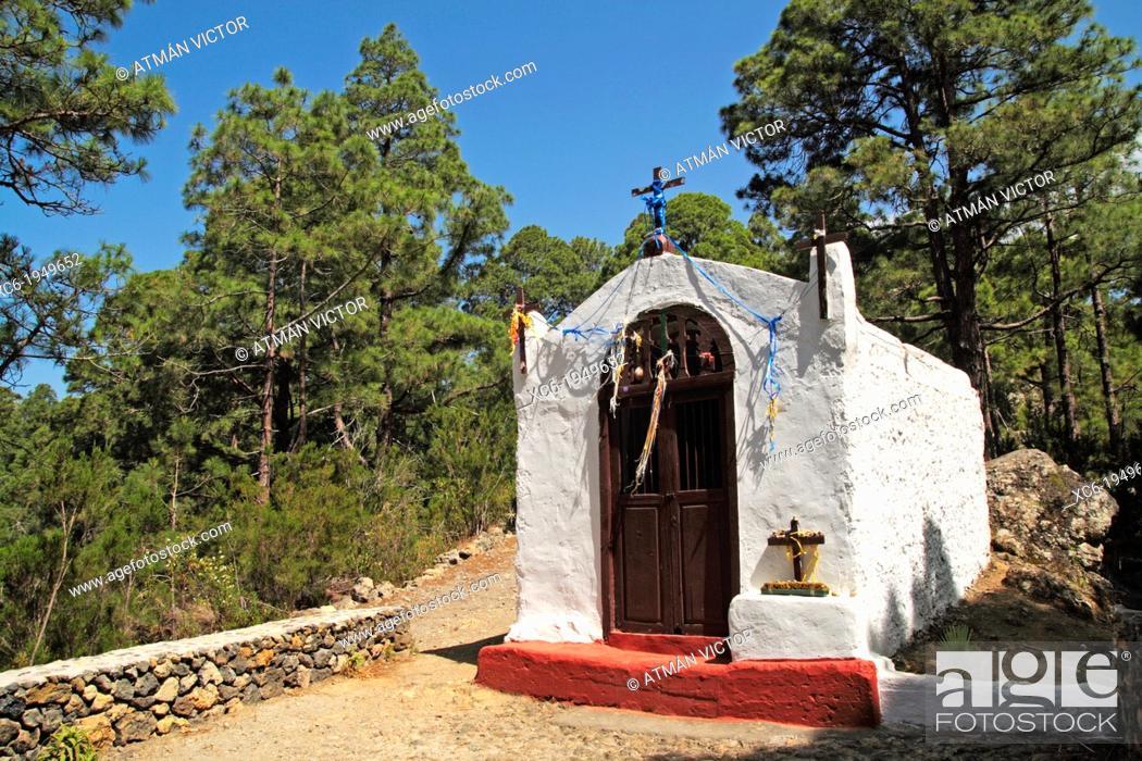 Stock Photo: chapel in the municipality of La Guancha Tenerife.