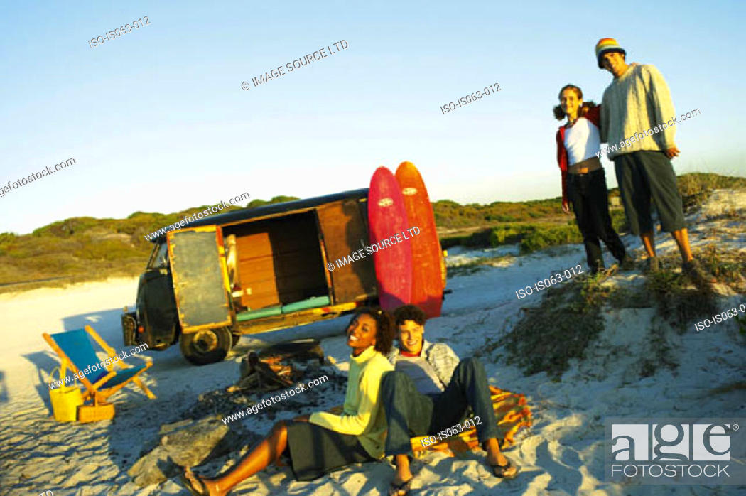 Stock Photo: People on beach.