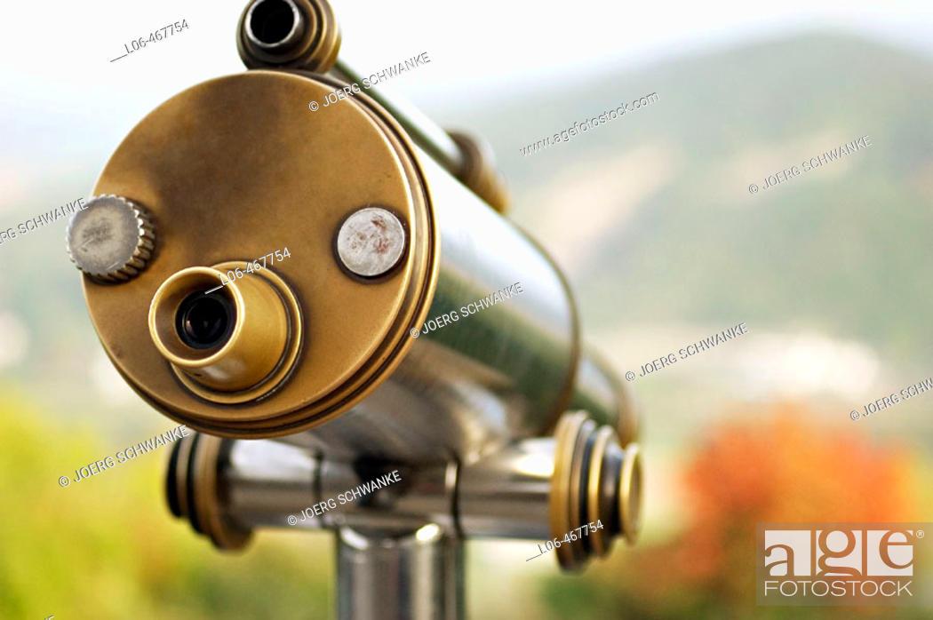 Stock Photo: Public telescope.