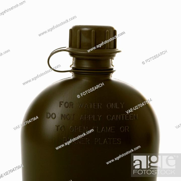 Stock Photo: Black water canteen.