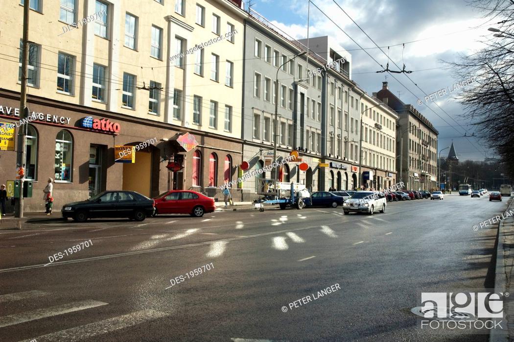 Stock Photo: Parnu Boulevard, Tallinn, Estonia.