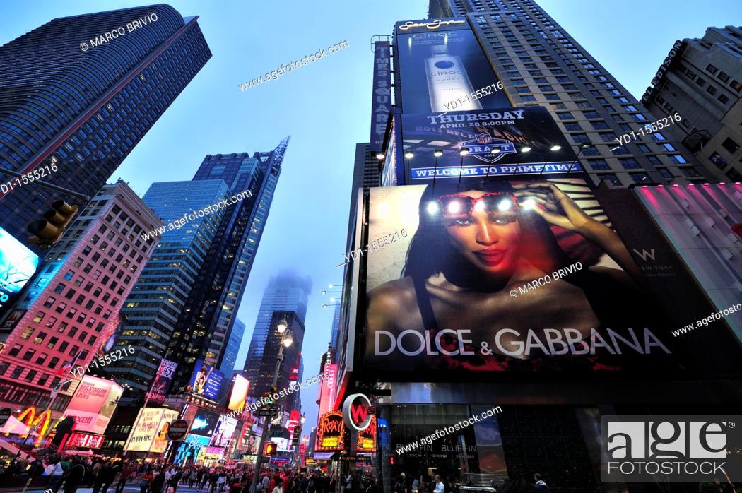 Stock Photo: Times Square  Manhattan, New York.